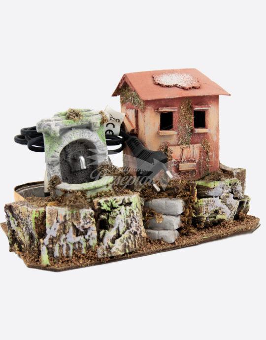 Casa con fontana