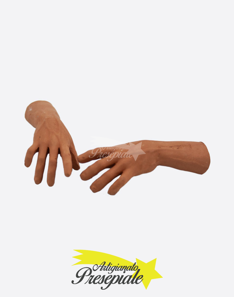 Mani in terracotta uomo