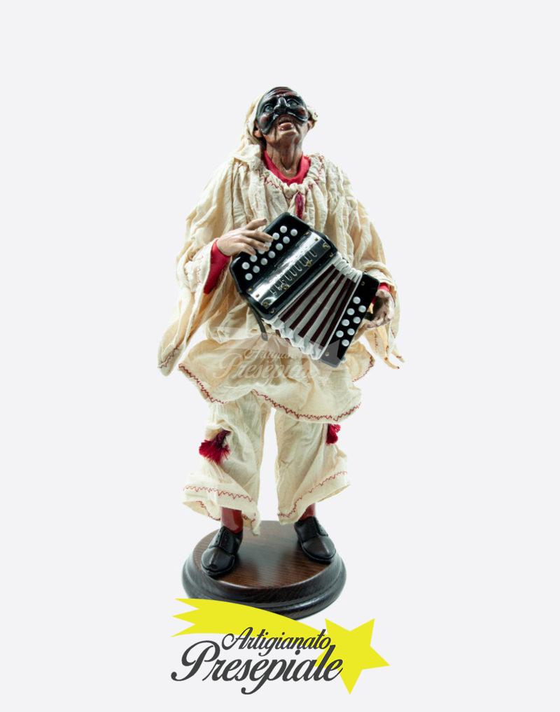 Pulcinella artigianale con fisarmonica