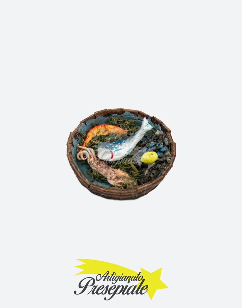 Cestino con pescato fresco per pastori 10 cm