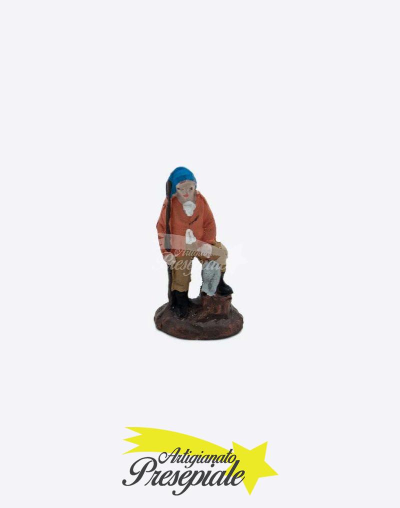 Pescatore in terracotta da 3 cm