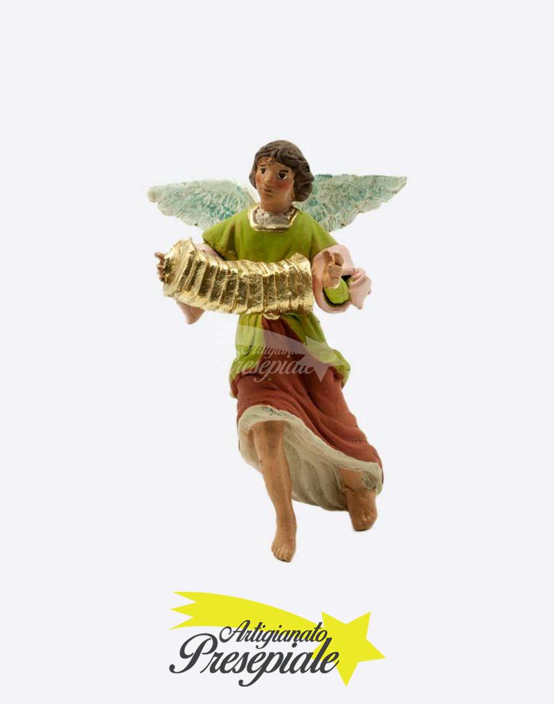Angelo con organetto da 12 cm