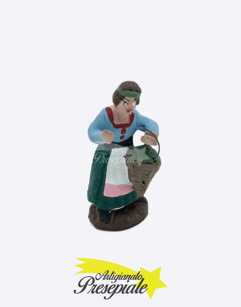 Donna con gerla di verdura 5 cm
