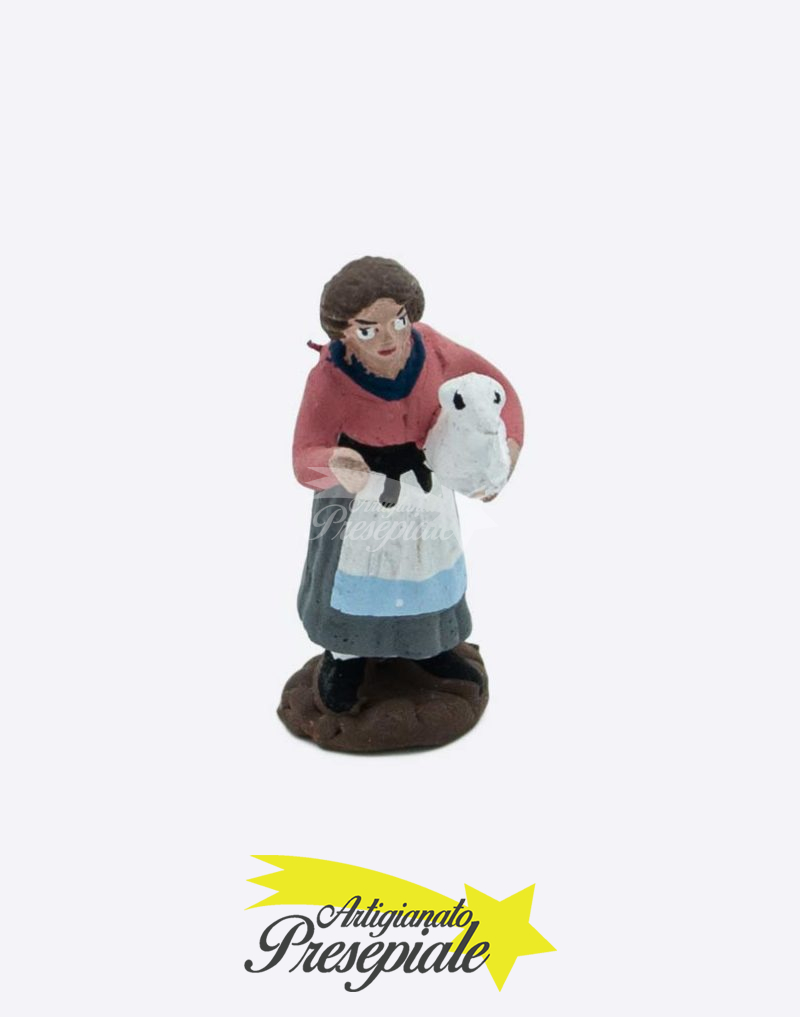 Donna con pecora in braccio 5 cm