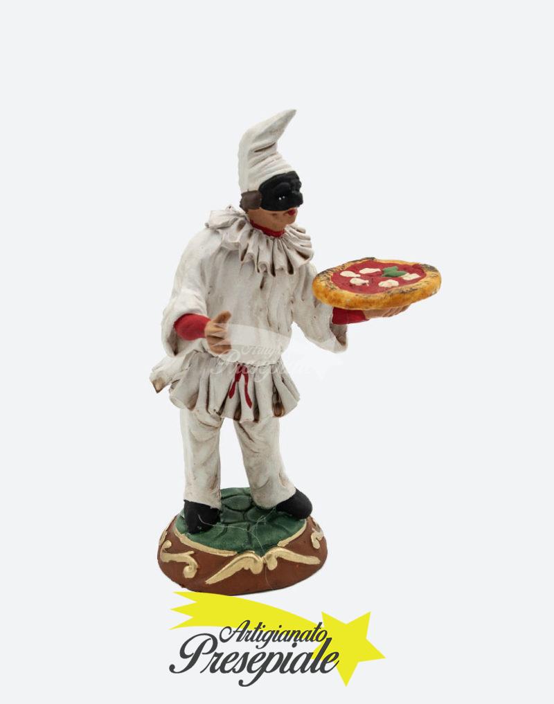 Pulcinella con pizza 18 cm