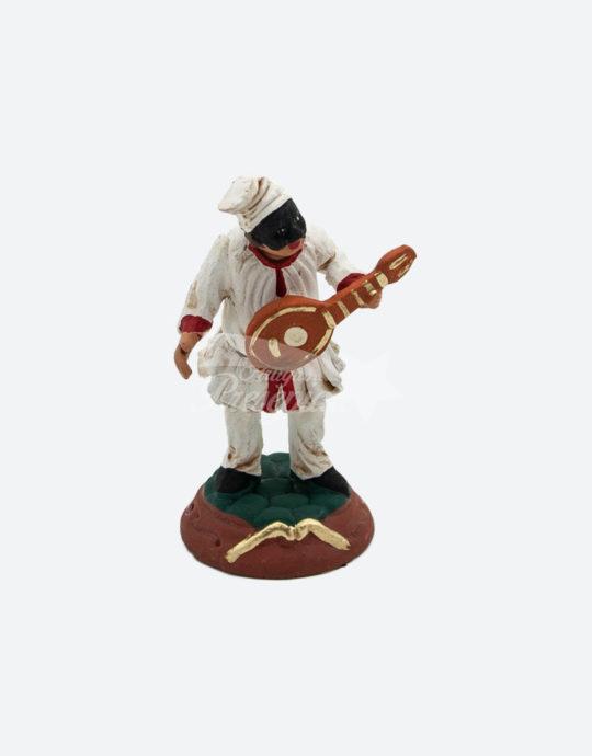 Pulcinella con mandolino 8 cm