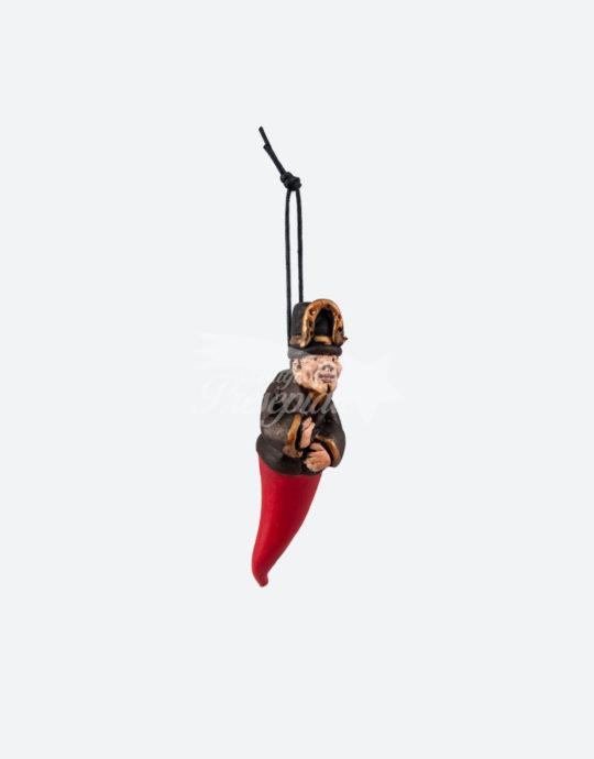 Gobbo portafortuna con ferro di cavallo 10 cm