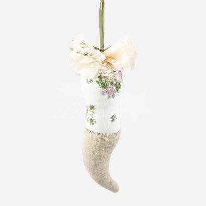 Corno in sfotta color avorio 16 cm