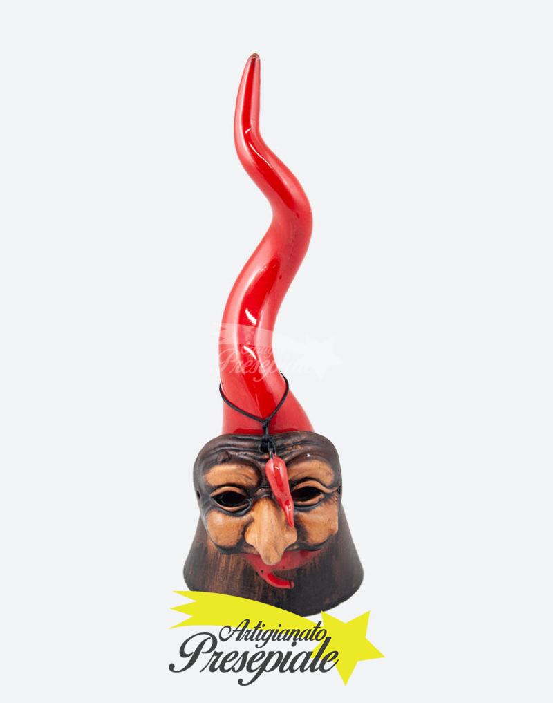 Corno rosso con maschera 26 cm