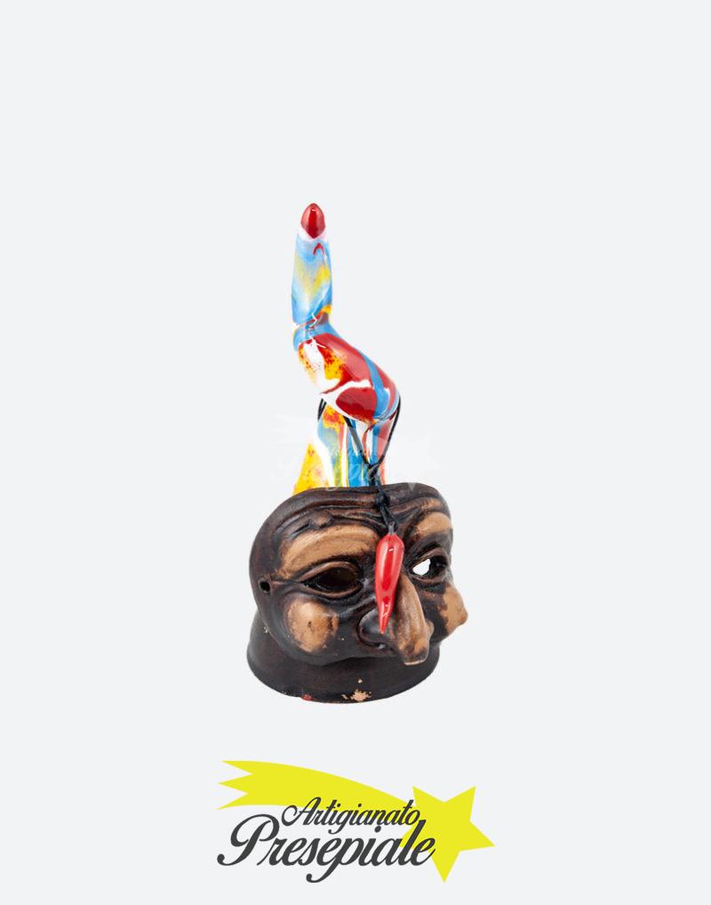 Corno variopinto con maschera 16 cm