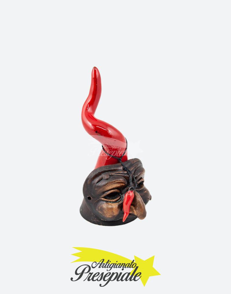 Corno rosso con maschera 16 cm
