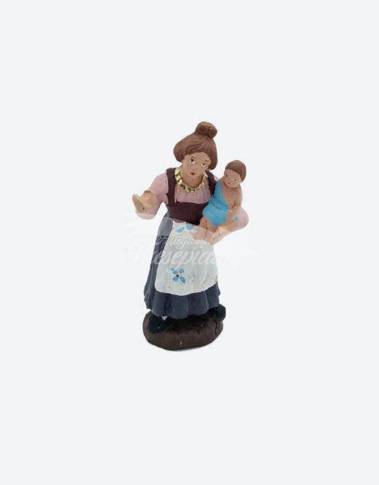 Donna con neonato in braccio 7 cm