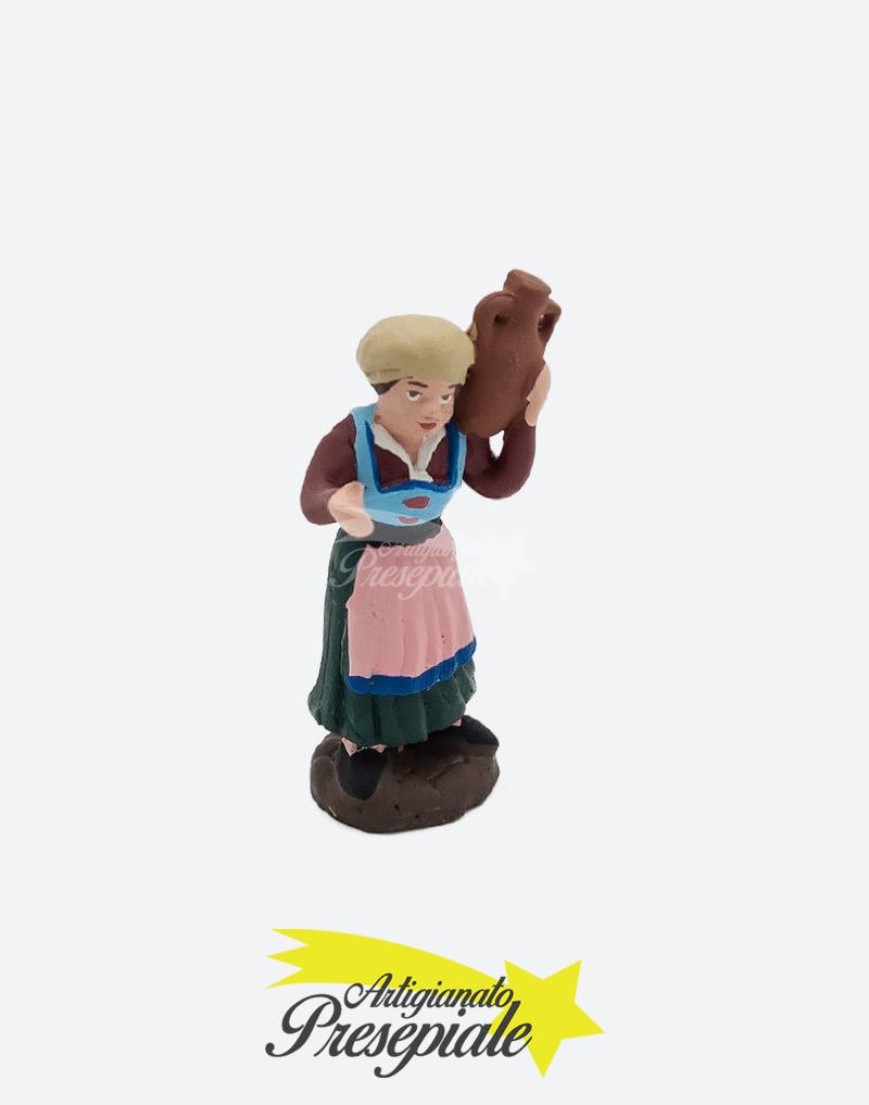 Donna con brocca sulle spalle 7 cm