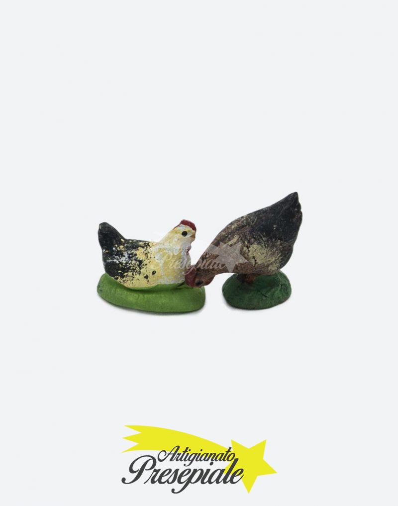 Coppia di galline 7 cm