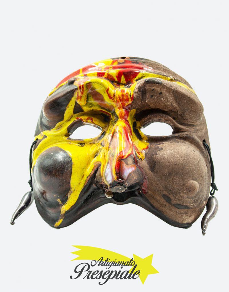 Maschera di pulcinella policroma maxi