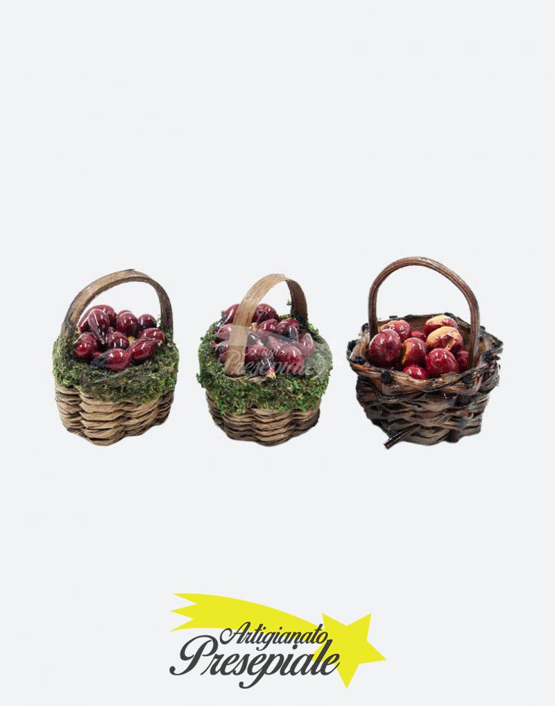 Tre cestini di mele