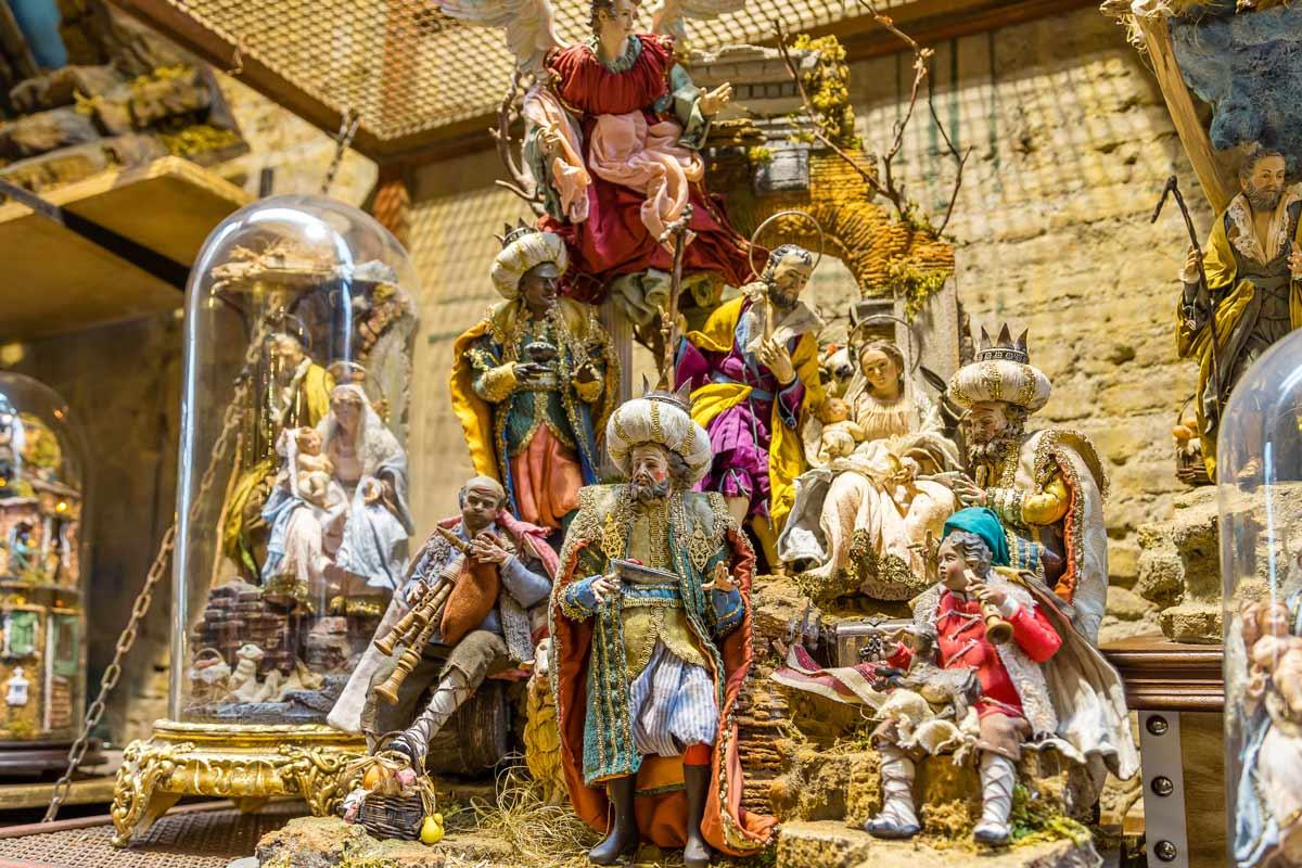Particolare di una Natività di San Gregorio Armeno