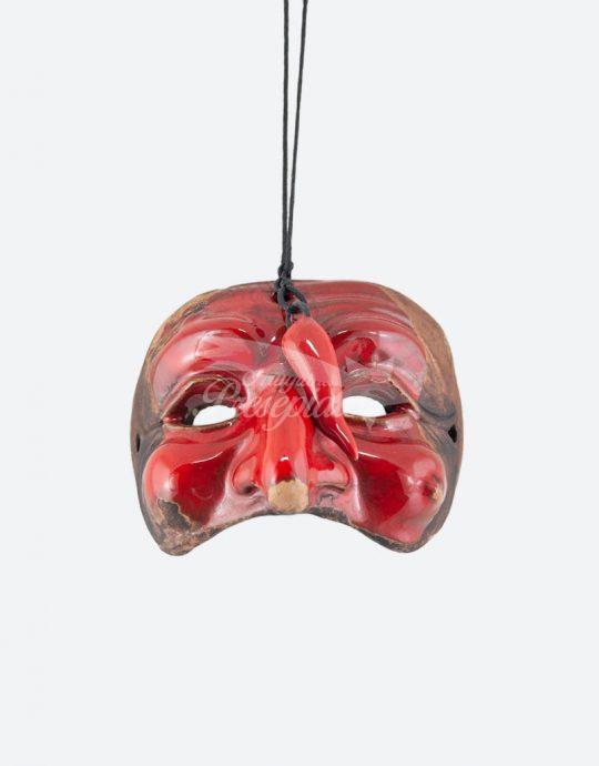 Maschera di pulcinella rossa