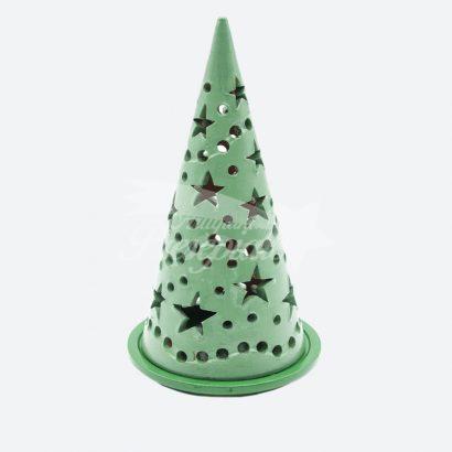 Porta candela albero di Natale 25 cm