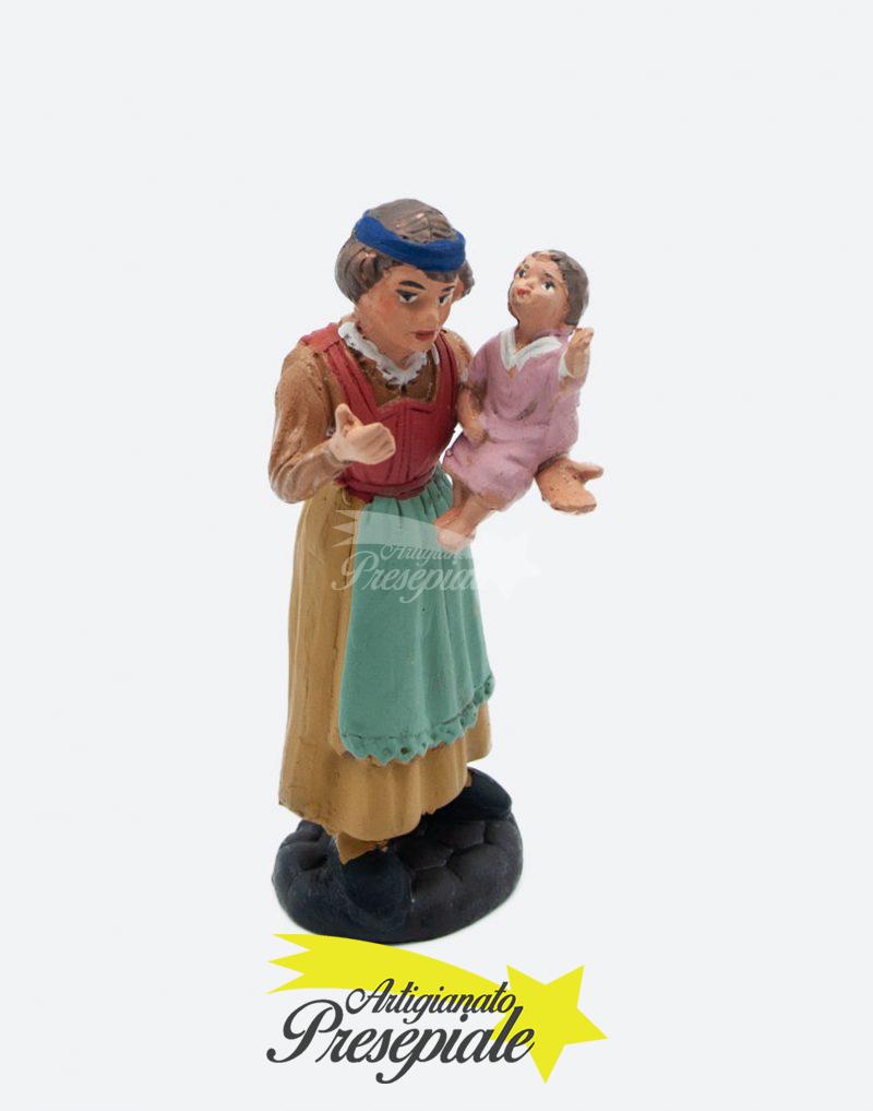 Donna con bambino 10 cm